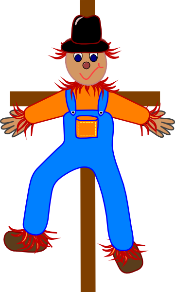 Cute Scarecrow Clipart - Clipart Kid