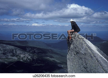 Stock Image   Mountain Summit Mt  Katahdin Baxter State Park Maine