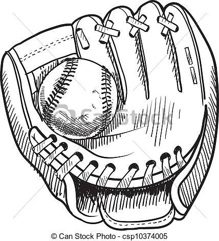 Baseball glove clipart clipart suggest for Baseball mitt coloring page