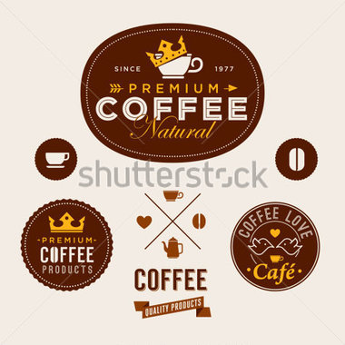 File Browse   Business   Finance   Set Of Vintage Retro Coffee Labels