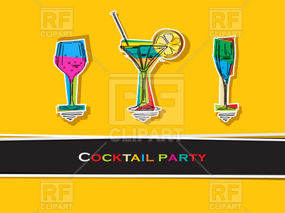 Pop Art Cocktail Party Card 21084 Download Royalty Free Vector