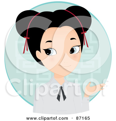 Royalty Free  Rf  Clipart Illustration Of An Asian Woman In A Pink