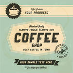Text Coffee Cup Label Concept Menu Hand Drawn Coffee Set