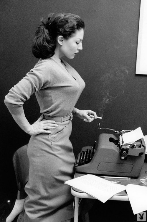 Typewriter Dress Cigarette Classic Secretary