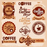Vintage Coffee Badges Stock Vectors Illustrations   Clipart