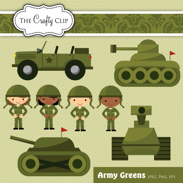 Army Clip Art Set By Thecraftyclip On Etsy