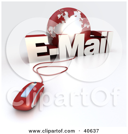 Clipart Illustration Of International Mail Being Delivered All Over