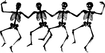 Dancing Skeletons Clip Art Free Vector In Open Office Drawing Svg