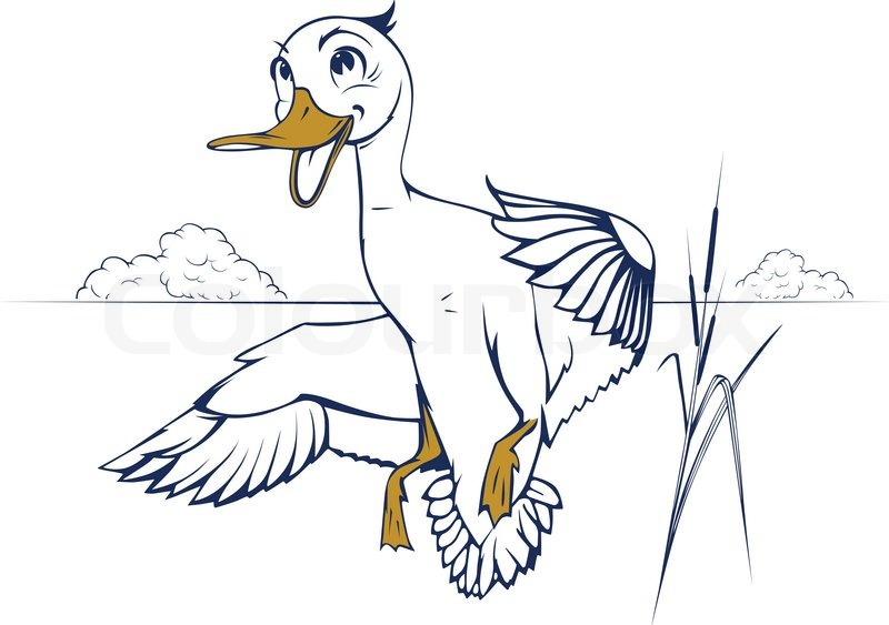Duck Flying Cartoon