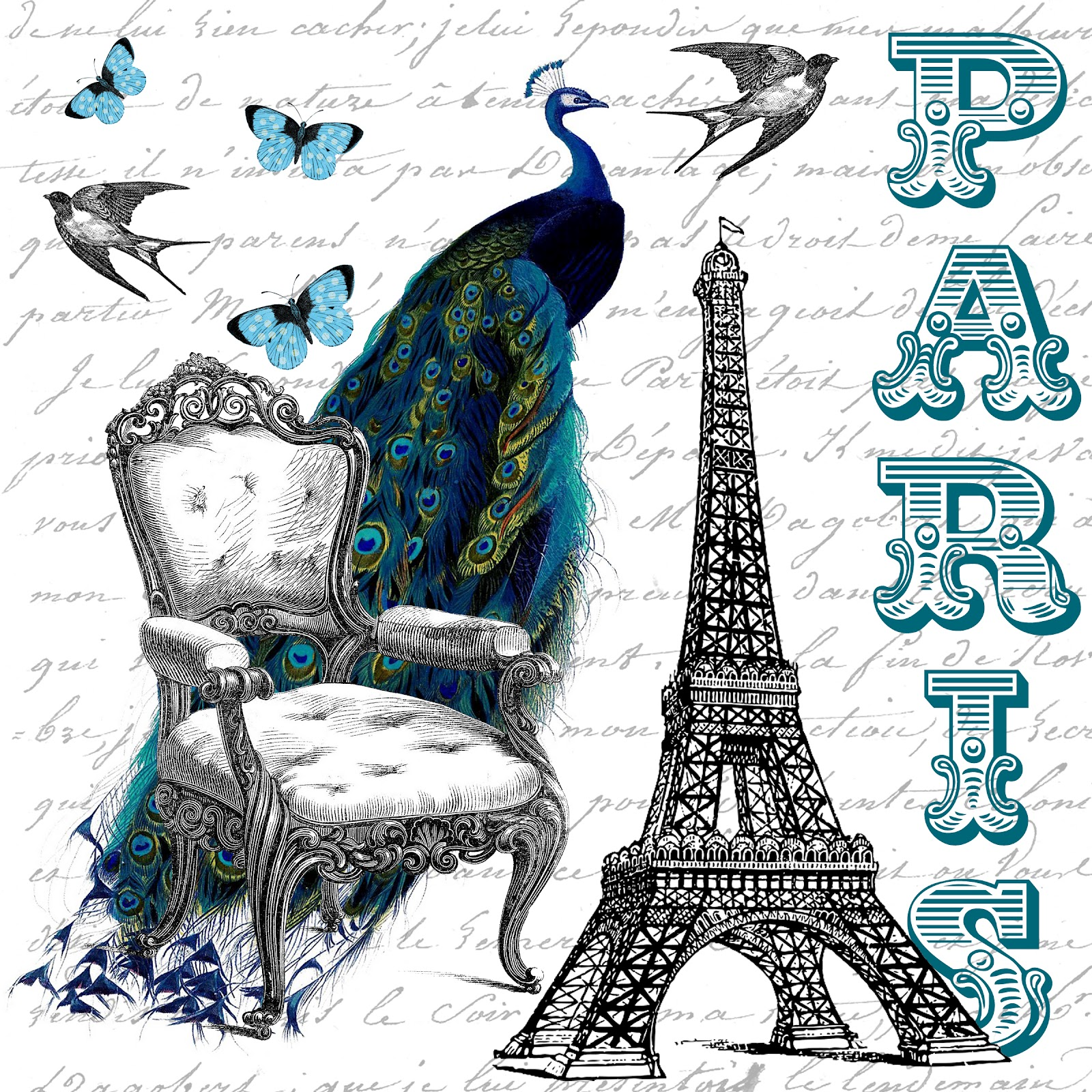 Free Printable    Beautiful Paris Collage And Guest Posting   The