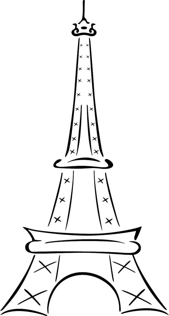 How To Draw Simple Eiffel Tower Free Cliparts That You Can Download To