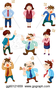 Illustration   Angry Office Worker  Eps Clipart Gg60121659   Gograph