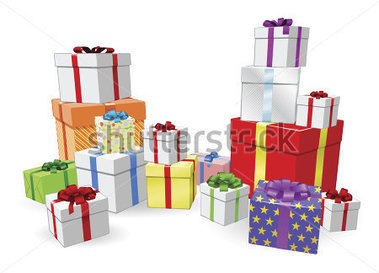 Lots Of Colorful Wrapped Presents For Birthday Christmas Or Other