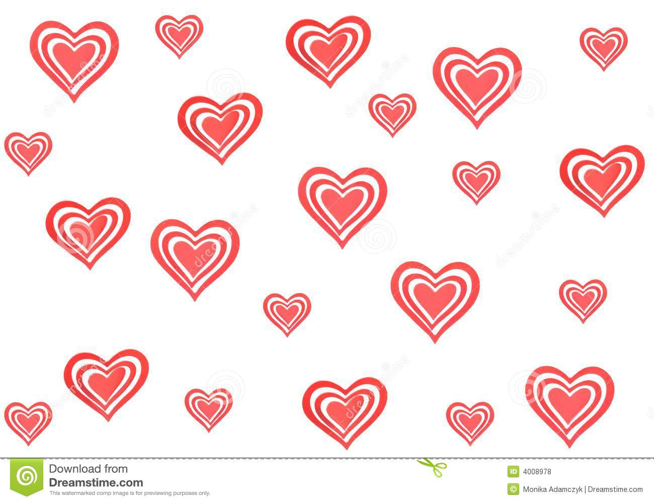 Lots Of Hearts Royalty Free Stock Photos   Image  4008978