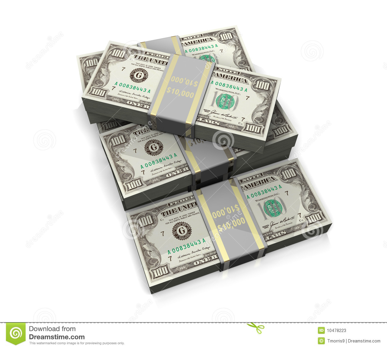 Lots Of Money Stock Photos   Image  10478223