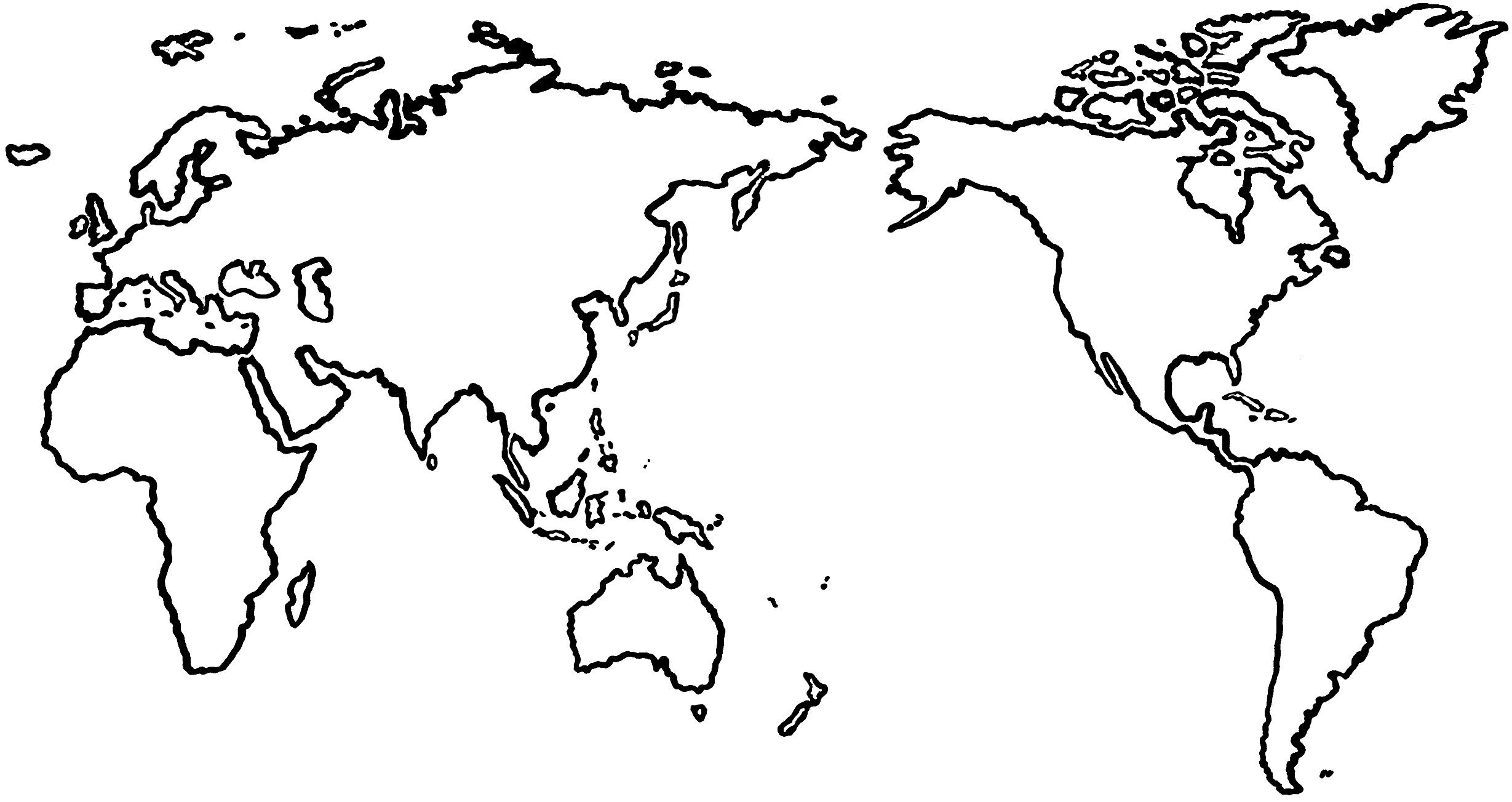 Flat World Map Clipart - Clipart Kid