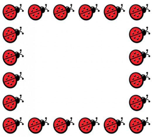 ladybug border clipart clipart suggest
