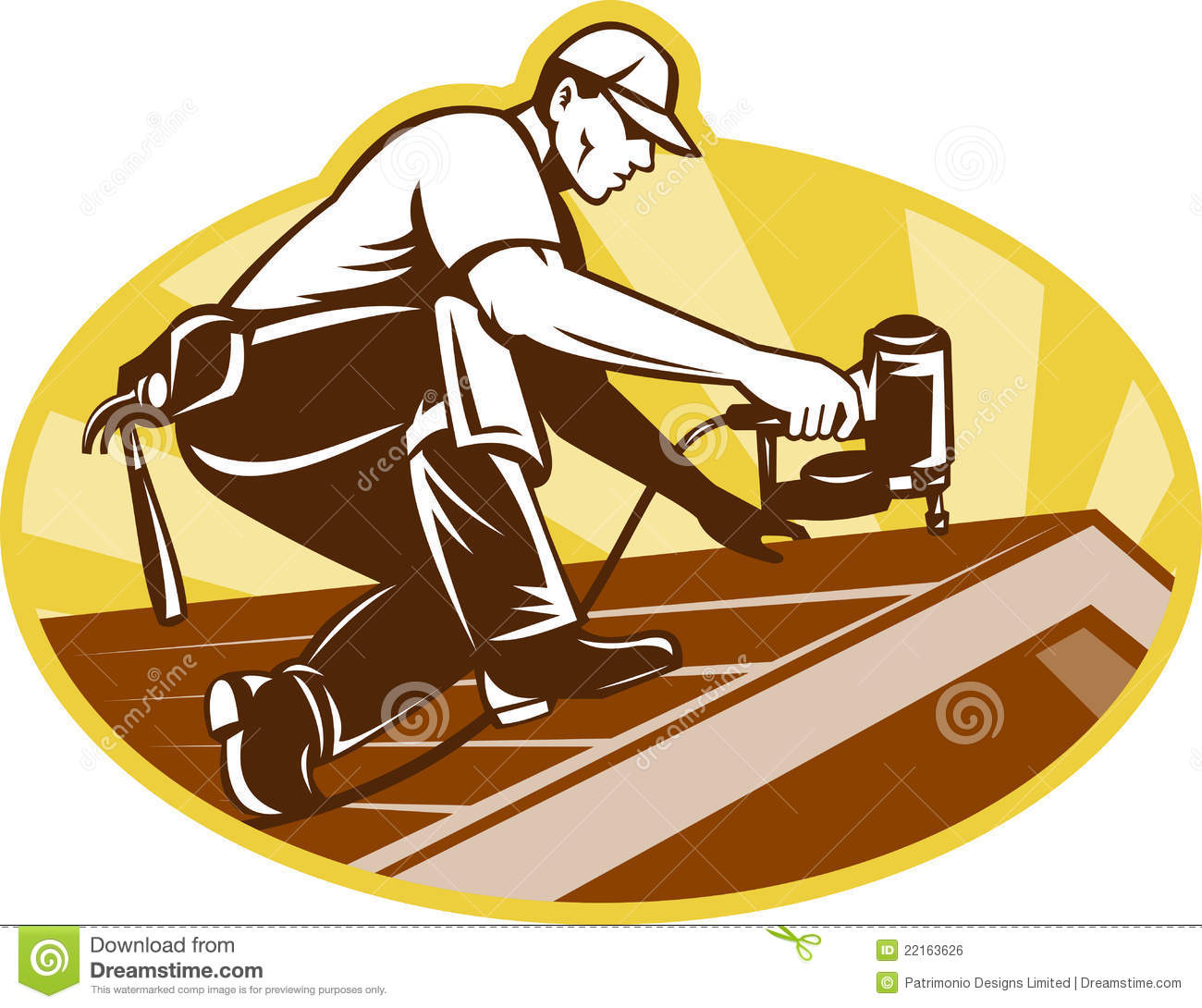 Roofer Roofing Worker Working On Roof Royalty Free Stock Image   Image