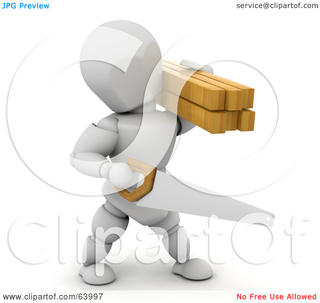 Royalty Free  Rf  Clipart Illustration Of A 3d White Character