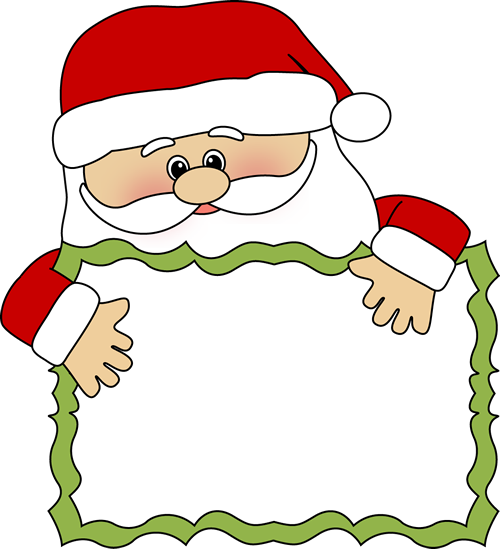 Santa Sign Clip Art   Santa Peeking Over A Blank Sign  This Image Can