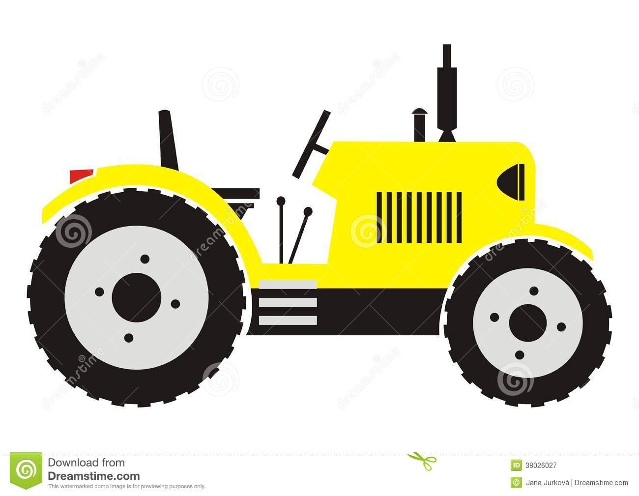 Yellow Tractor Clip Art : Yellow tractor clipart suggest