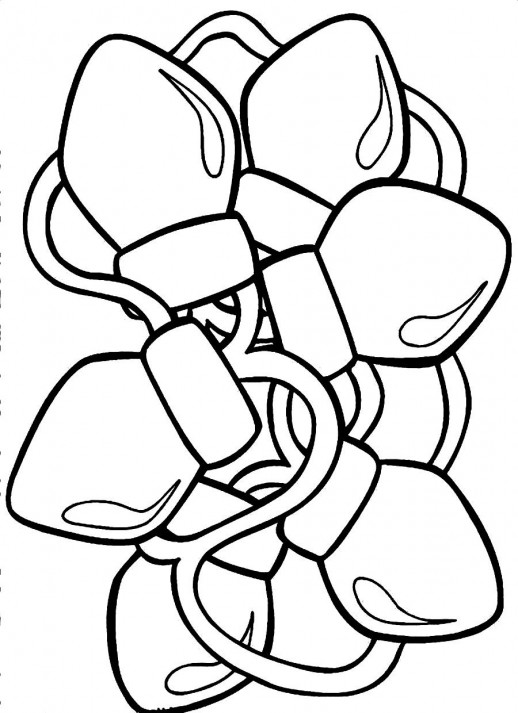 Christmas Lights Coloring Pages Christmas Lights Coloring Pages