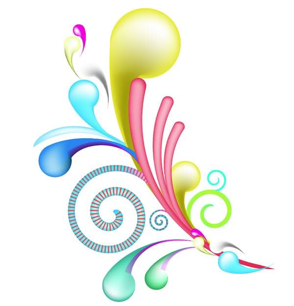 colorful swirls clipart clipart suggest