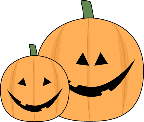 Halloween Jack O Lantern Clip Art Image   A Large And Small Halloween