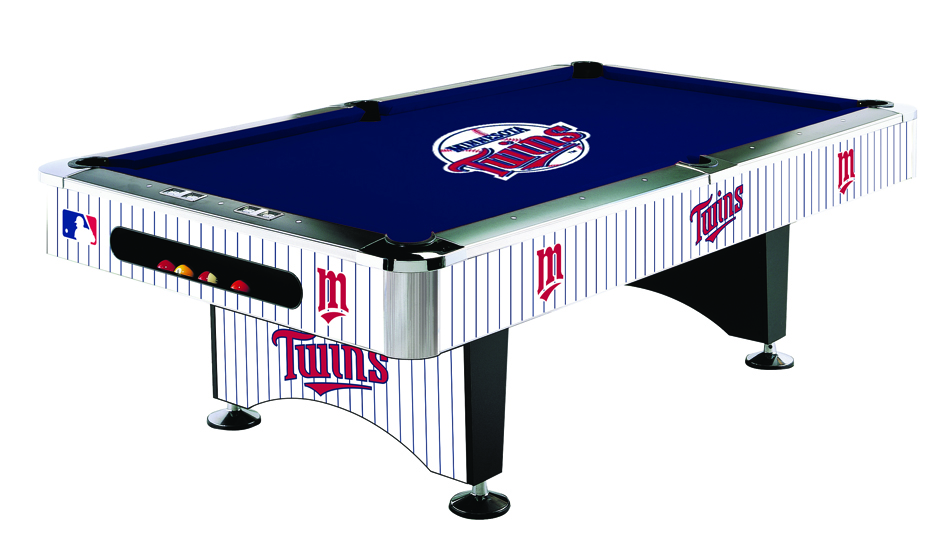 Minnesota twins licensed billiards table with team logo for Table 52 images