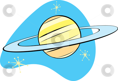Retro Planet Saturn Stock Vector Clipart Retro Planet Saturn Is Part