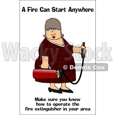 Royalty Free  Rf  Clipart Illustration Of A Lady Carrying A Fire