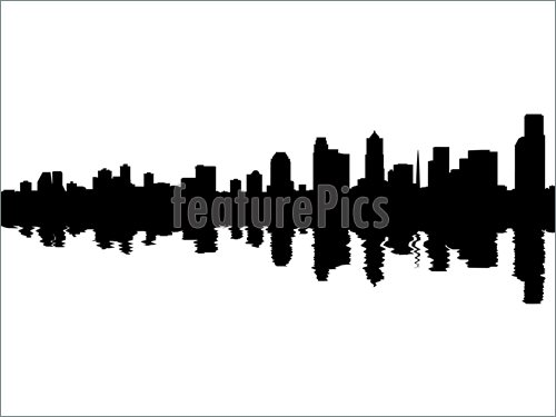 Seattle Skyline Clip Art Book Covers