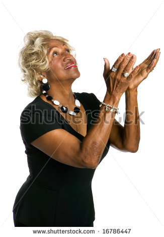 African American Woman Praying Stock Photos Illustrations And Vector