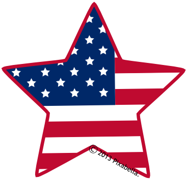American Flag Clip Art Star   Clipart Panda   Free Clipart Images