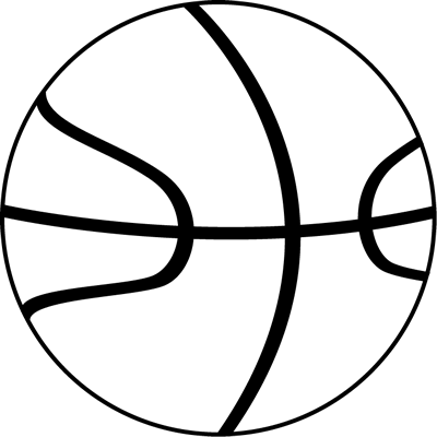 Basketball Clipart Black And White Baketball Ball Black White Png