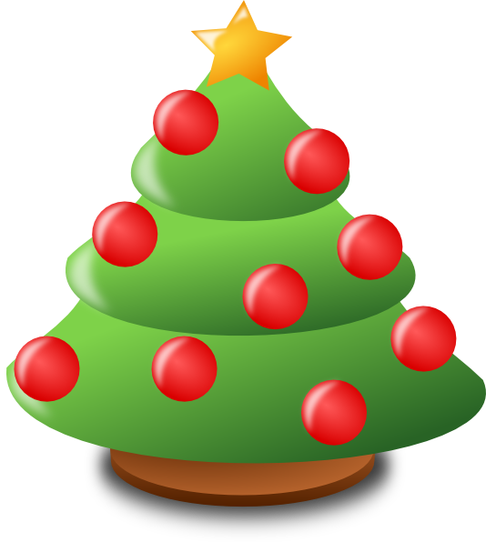 Cartoon Christmas Tree Clip Art At Clker Com Vector Clip Art Online