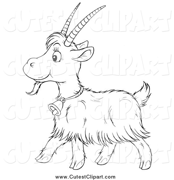Clipart Goat Black And White Goat Black And White Clipart