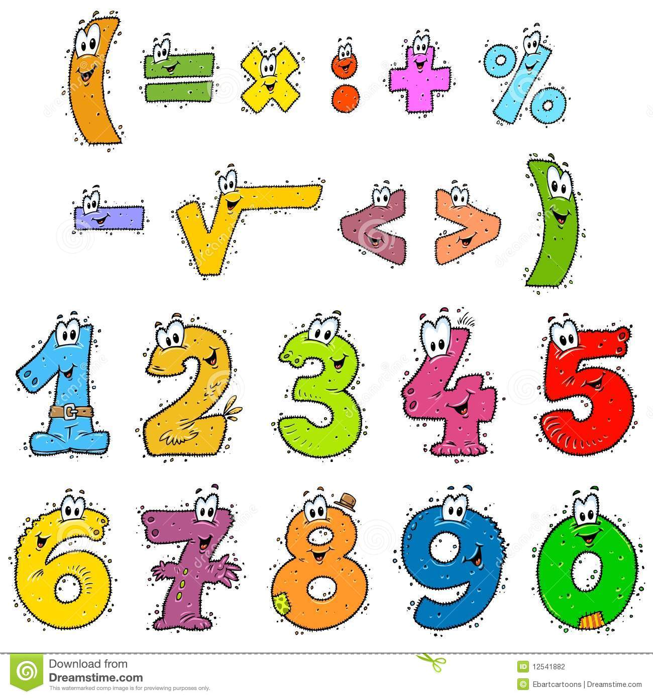 Clipart Numbers Color Stock Photography   Image  12541882