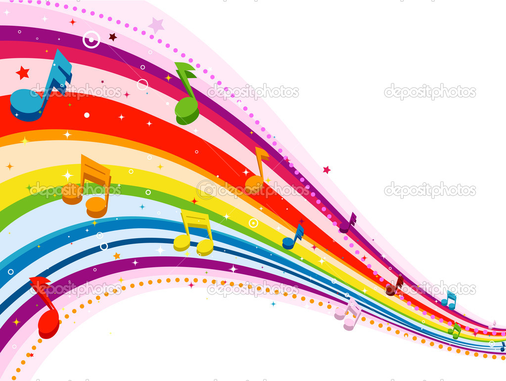 Colorful Music Notes Wallpaper Colorful Music Notes White Background