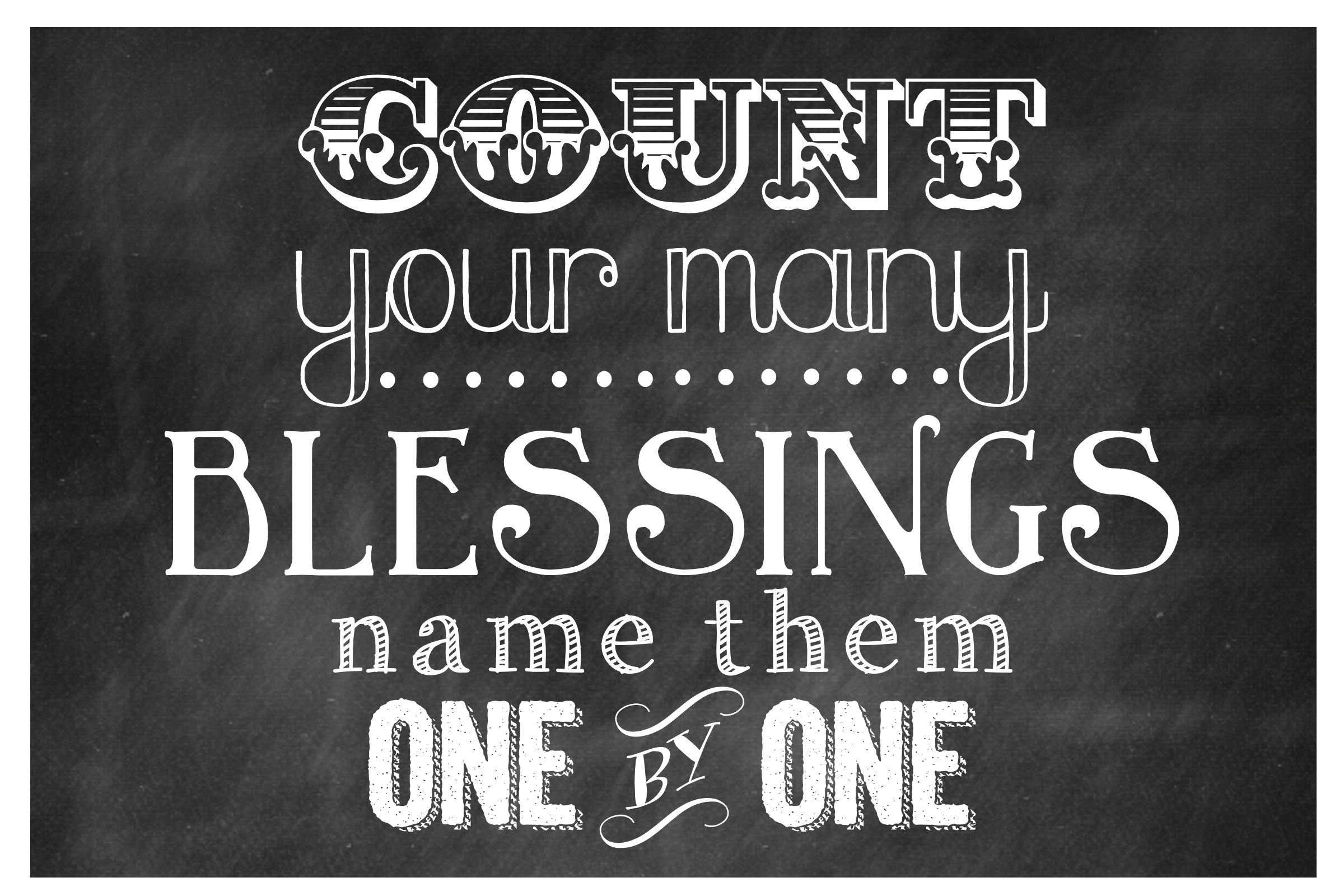 Count Your Blessings Printable On   Lilluna Com   Use As Decor Or Put