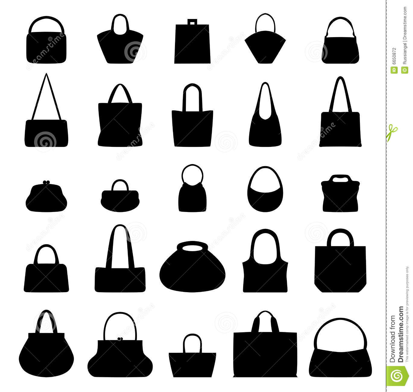 Execution Of 25 Different Purses And Handbags