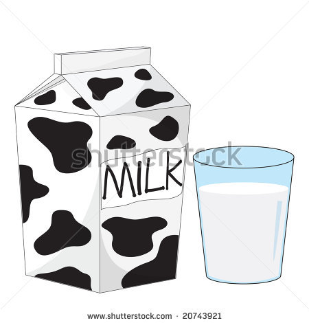 Glass Of Milk Clipart Black And White Stock Photo Milk Carton And