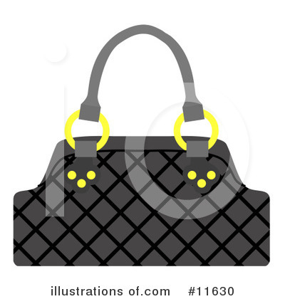 Handbags Clipart Purse Clipart Illustration