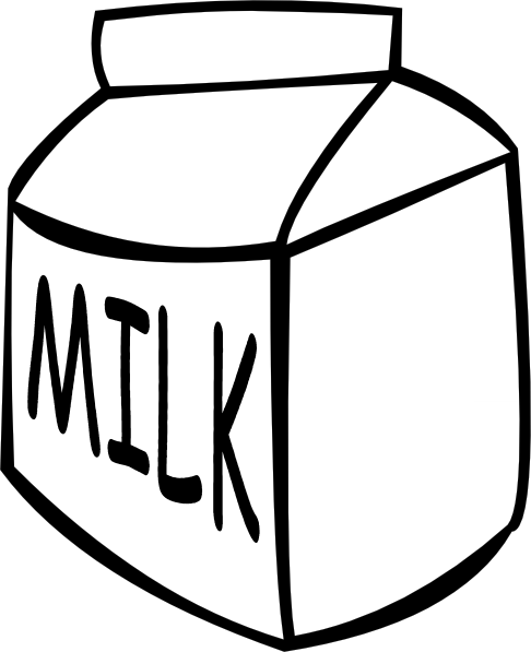 Milk  B And W  Clip Art At Clker Com   Vector Clip Art Online Royalty