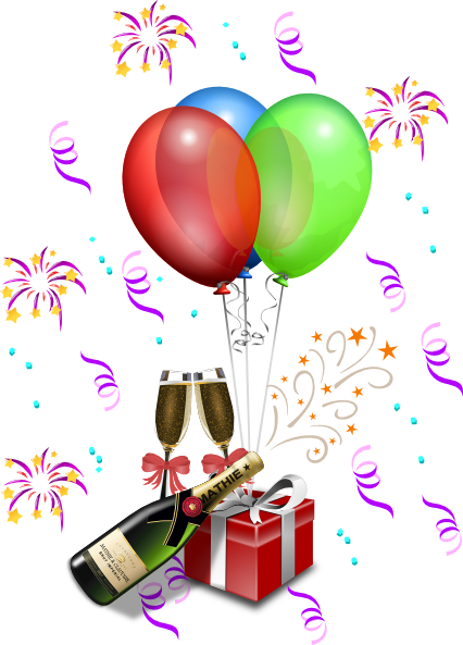 New Year  S Eve Celebration Clip Art At Clker Com   Vector Clip Art