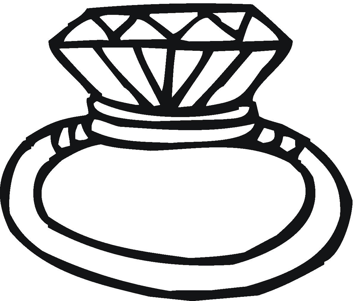 Clip Art Black And White Wedding Ring Clipart