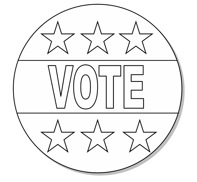 Vote Button Color Me   Http   Www Wpclipart Com Holiday Election Day