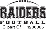 Black And White American Football And Raiders Football Team Text