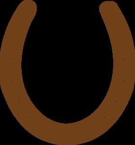 Brown Horseshoe Clip Art At Clker Com   Vector Clip Art Online