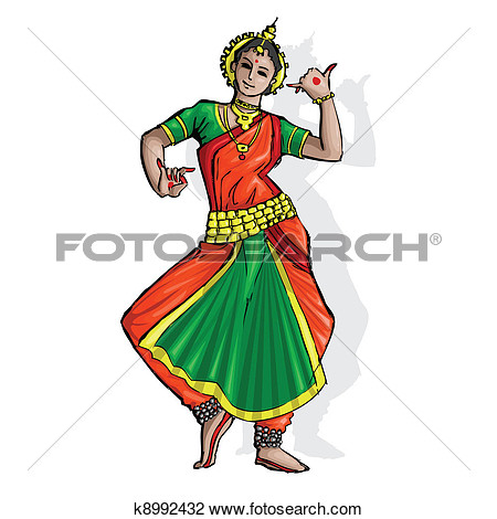 Clipart   Indian Classical Dancer  Fotosearch   Search Clip Art